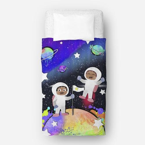 Space Kids Illustration