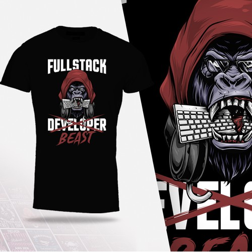 T-shirt design concept for Fullstack Beast