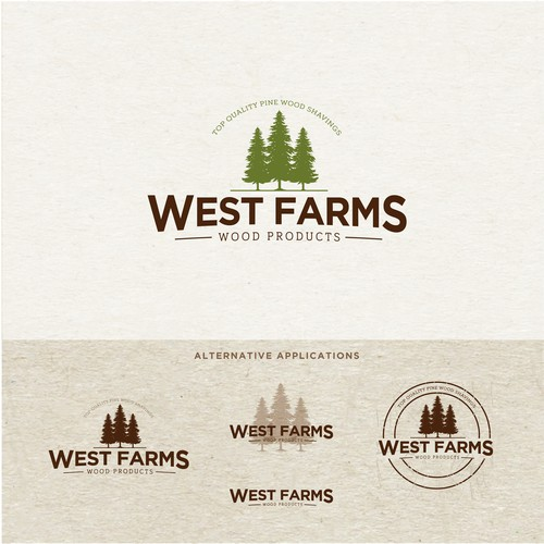 Organic design logo for a Pine Farm