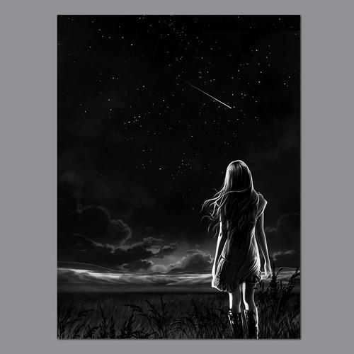 Night sky for custom book plates