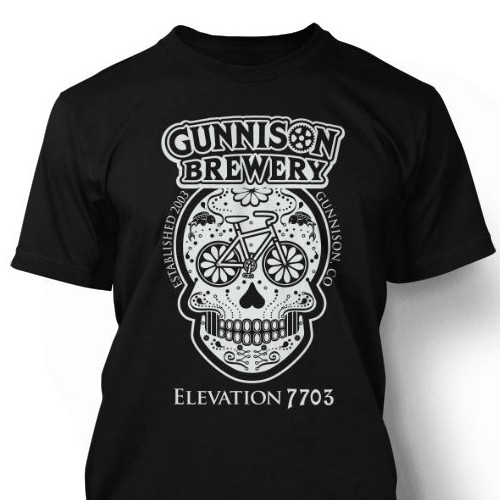 Sugar Skull winning t-shirt design