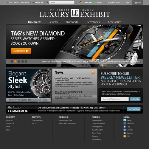 Luxury Jewelry and Watch E-commerce Site needs facelift!!