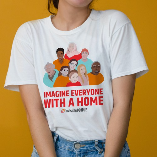 T-shirt design for a non-profit