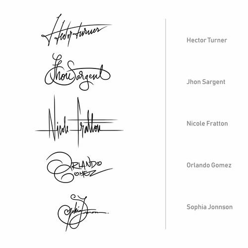 Signatures - Calligraphy