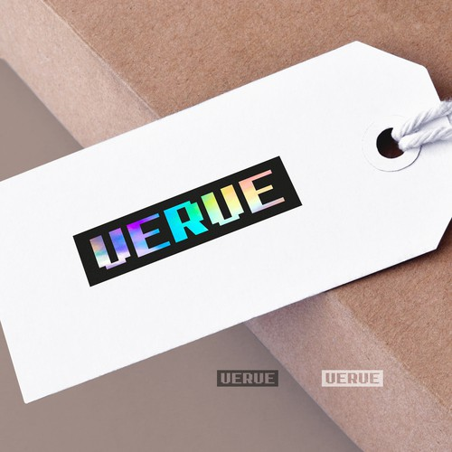 Vibrant custom wordmark for Verve fashion