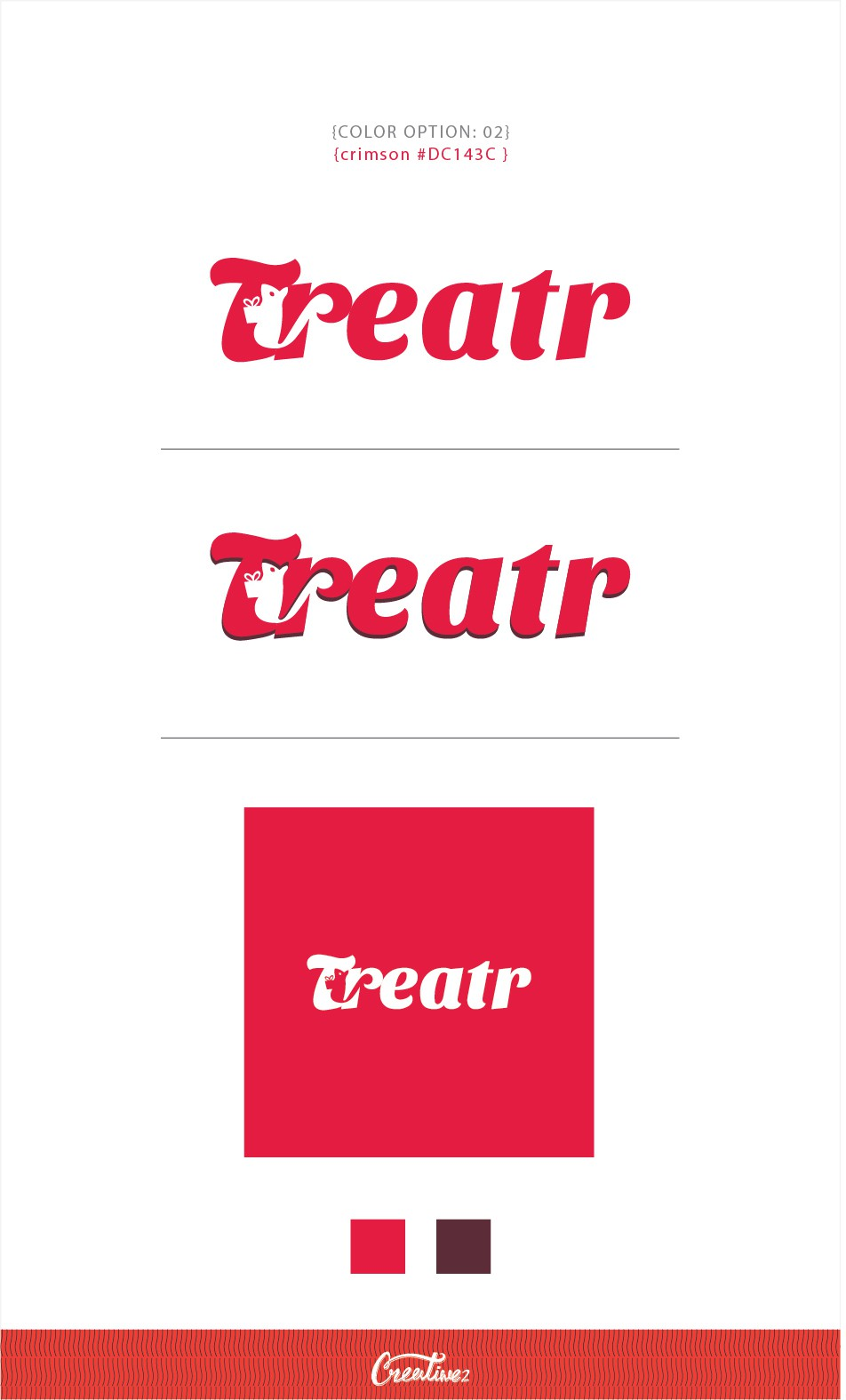 Create a playful and happy brand identity for Treatr