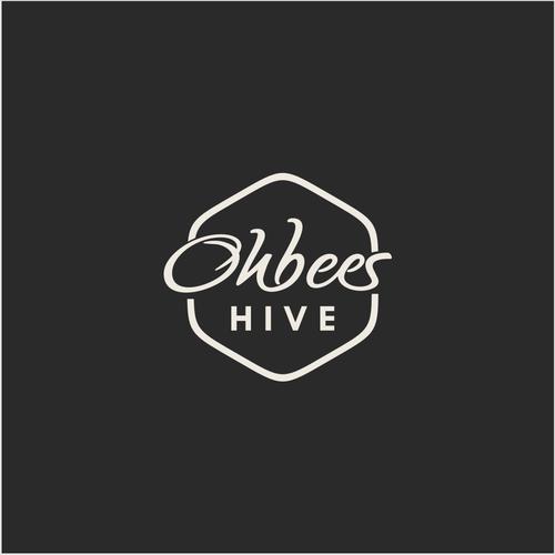 simple-script logo for Ohbees Hive Retail Shop