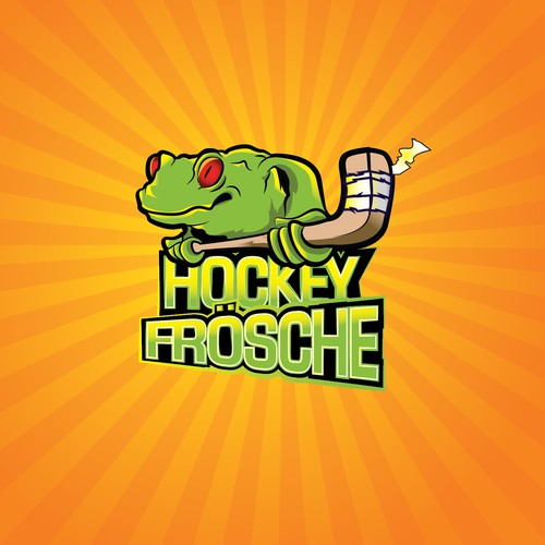 Logo for a hobby ice hockey team - The Cologne Hockey Frogs