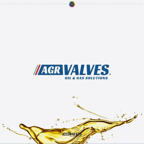 AGR Valves Logo Design