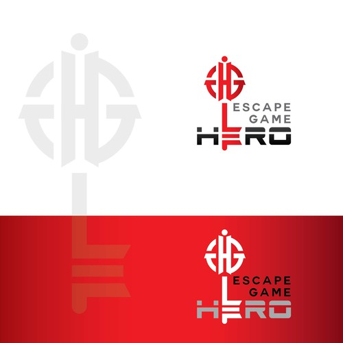 Escape Game Hero logo design