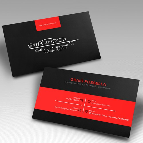 Business Cards for multi location Collision Shop