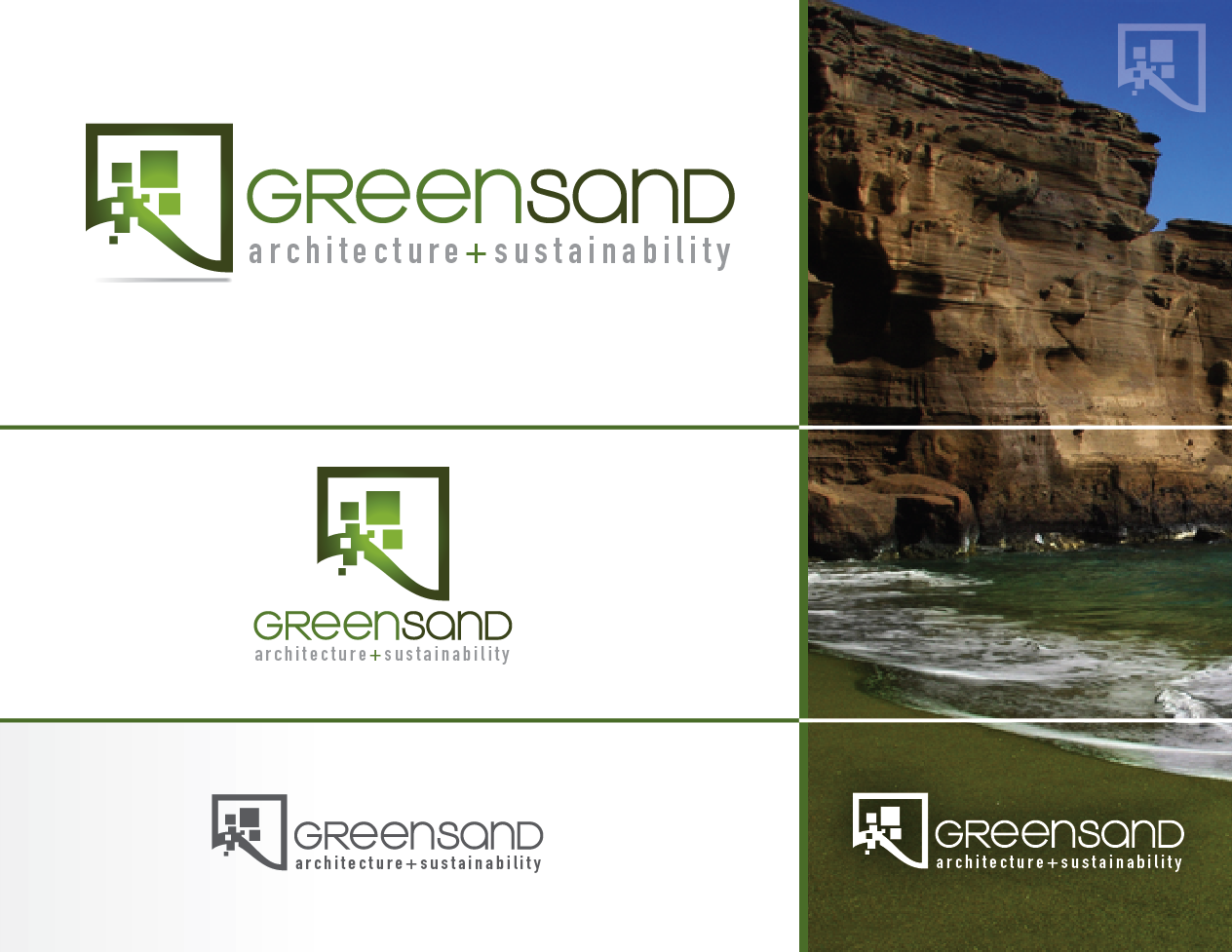 Help Green Sand Inc. Architecture + Sustainability with a new logo