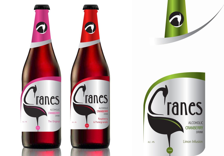 Design the label for Cranes Drink