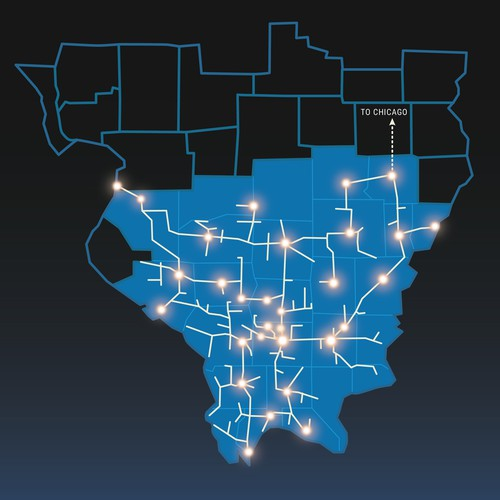 Web map for internet cabling company