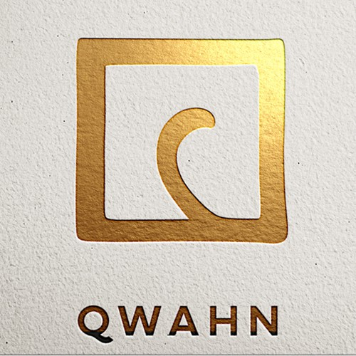Create a logo for a QWAHN high fashion clothing brand