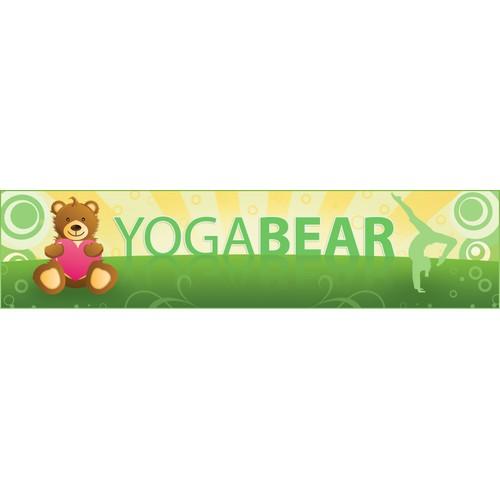 Web banner for Yoga Bear