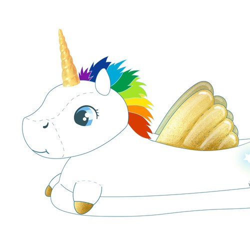 Unicorn Plush Slippers for Women & Kids