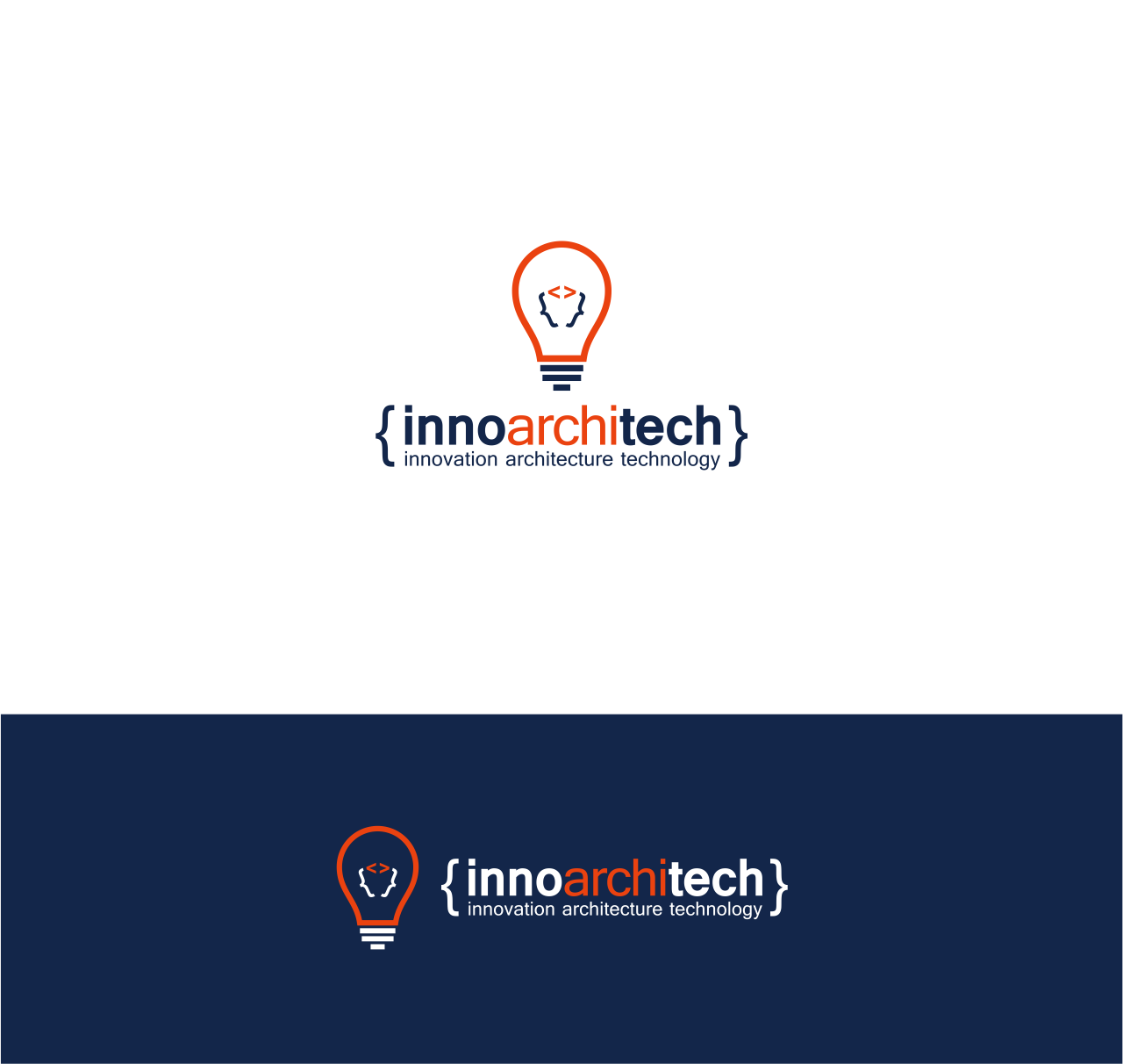 Create awesome, modern, and simplistic tech logos for InnoArchiTech