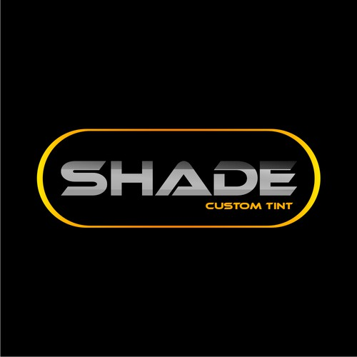 Create a stylish eclipse/shaded logo for a window tinting business