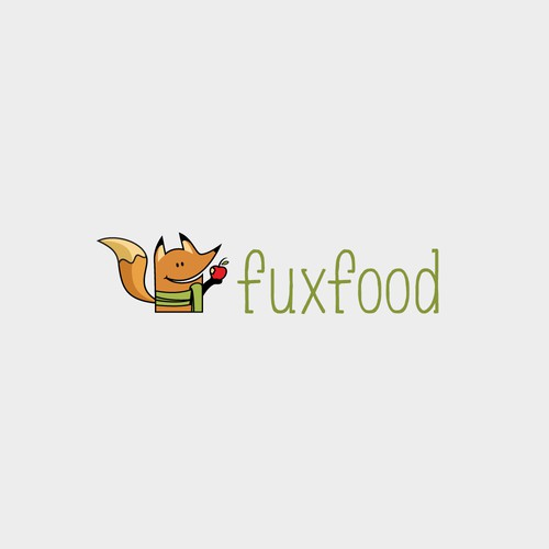 """The nutrition blog """"fuxfood"""" needs an illustrated """"hipster"""" logo"""