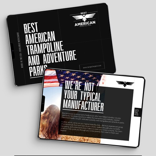 Modern Booklet Design for Trampoline Park