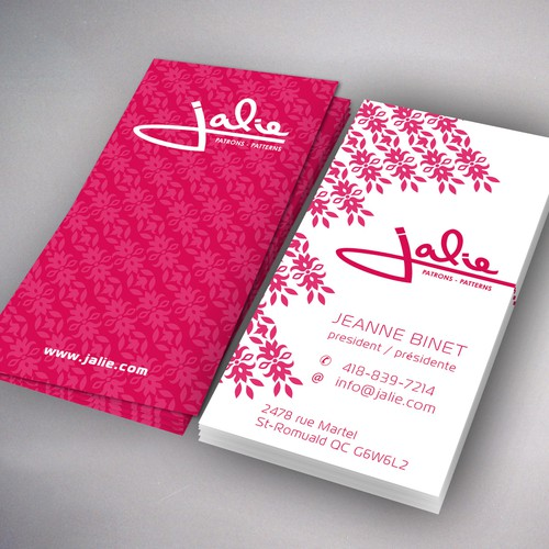 Create the next business card for Jalie