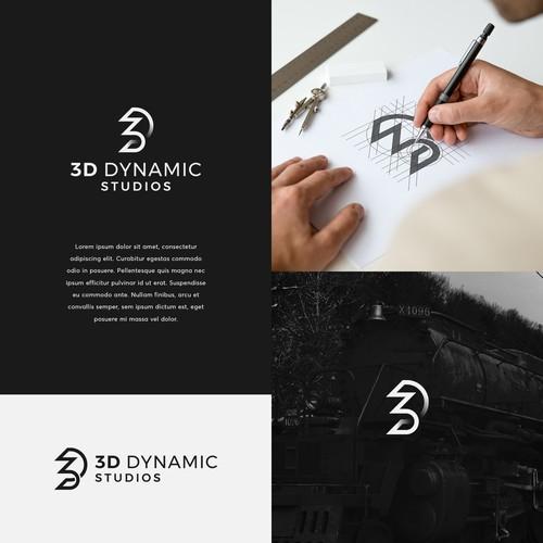 3D Logo For a 3D Art Studio