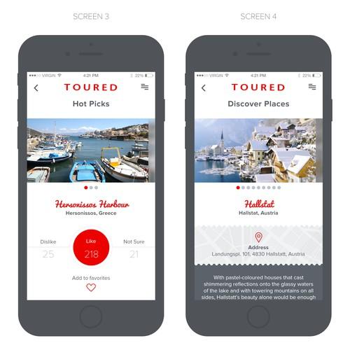 Application design for Travel App