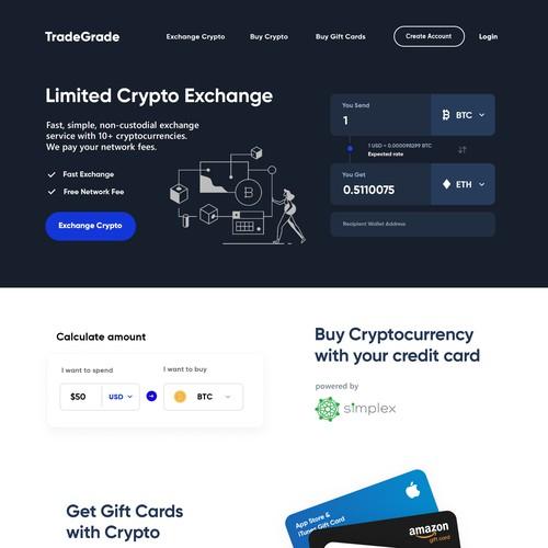 Tradegrade Homepage Design