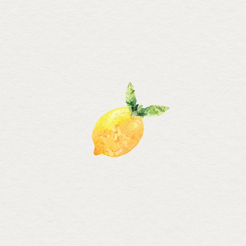 Watercolor lemon icon for a italian recipe website
