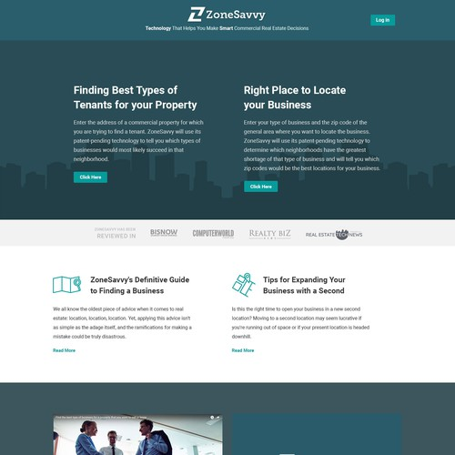 ZoneSavvy Minimal WordPress Design
