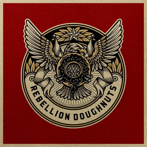 Rebellion Doughnuts Logo Badge