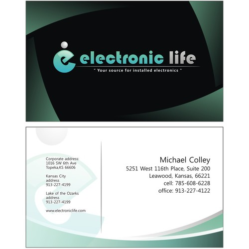 Create a new business card for Electronic Life
