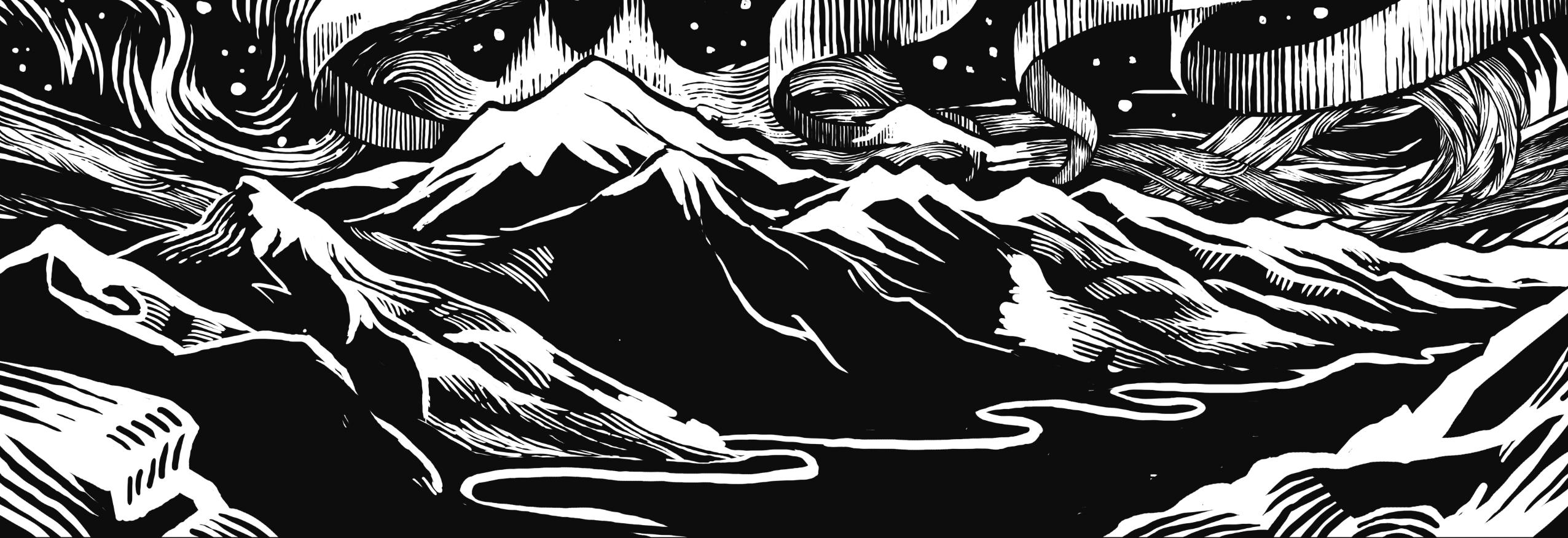 Borealis Northern Lights Banner