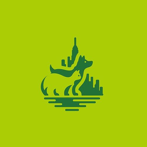 Paws Around Town logo concept