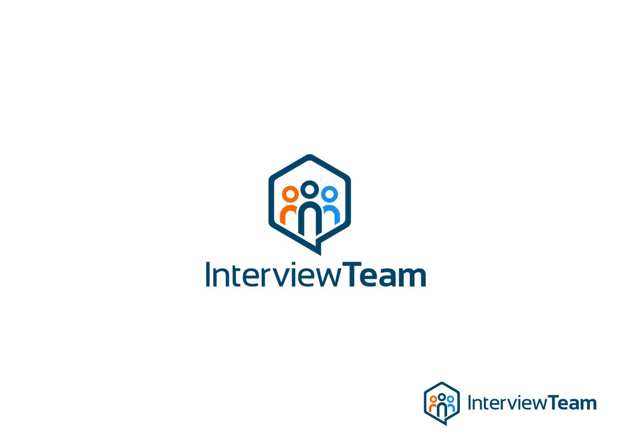 Express the interview selection process through an colorful, yet wise logo.