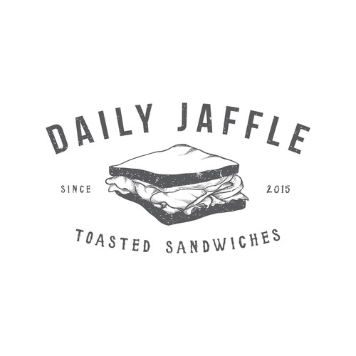 vintage logo for daily jaffle