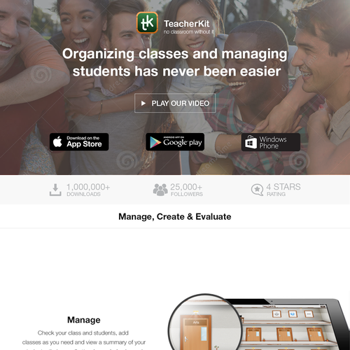 TeacherKit App web page