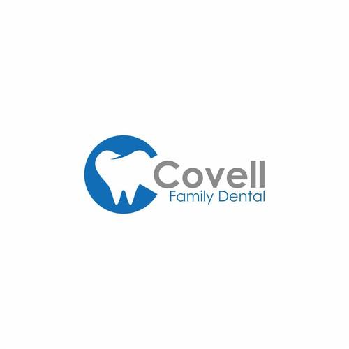 inviting logo for a dental office in Davis, CA.