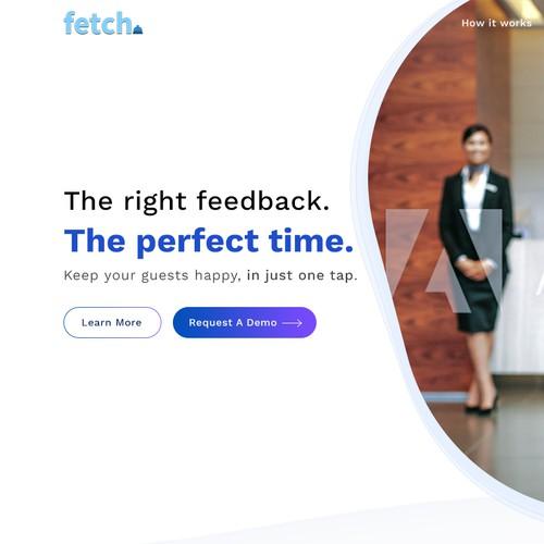 Hotel Survey web app UI design
