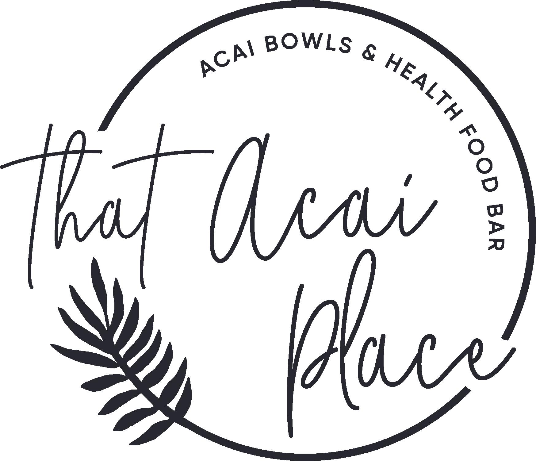 Design a unique yet slightly feminine logo for a vegan friendly acai bar