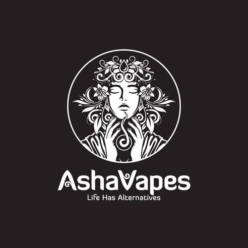 logo design for Asha Vapes