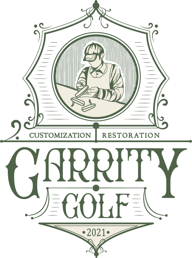 Vintage/Apothecary style logo for a golf club customization company