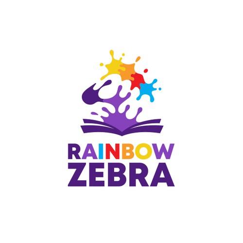 Creative logo for Rainbow Zebra