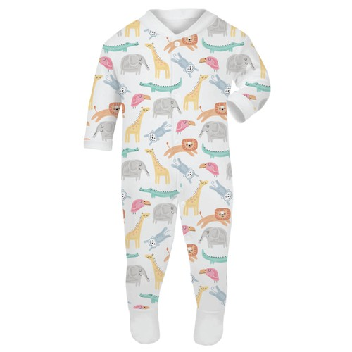 Pattern design for baby sleep suit