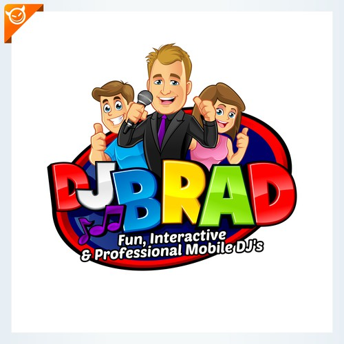 "design logo for:""DJ BRAD"""