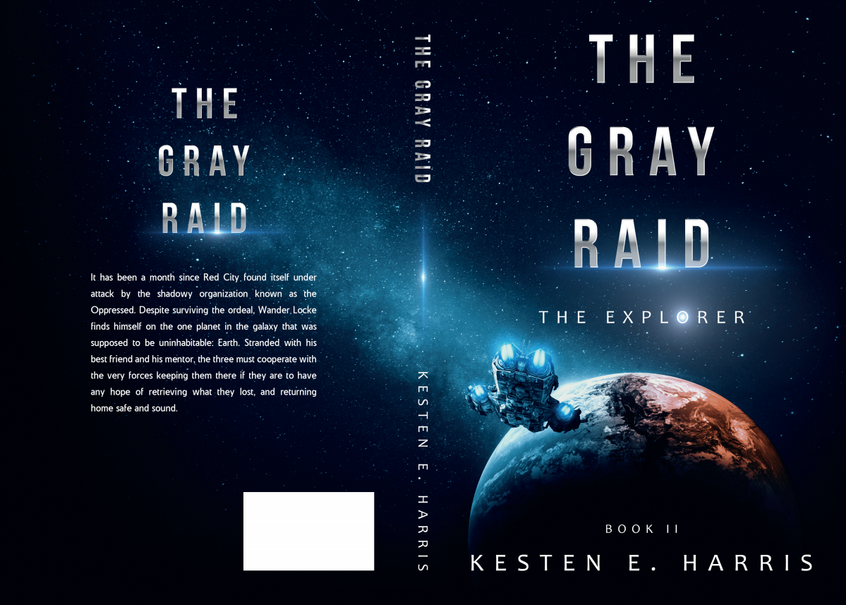 Book Cover for The Gray Raid (sequel to The Blue Barricade and second The Explorer novel)