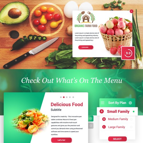 "Delicious ""Food love"" Website Design"