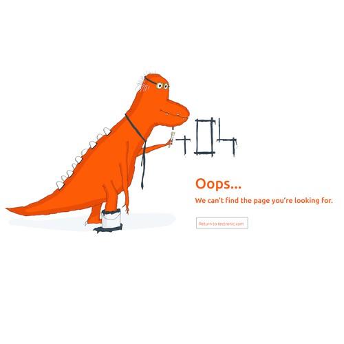 Dinosaur mascotte