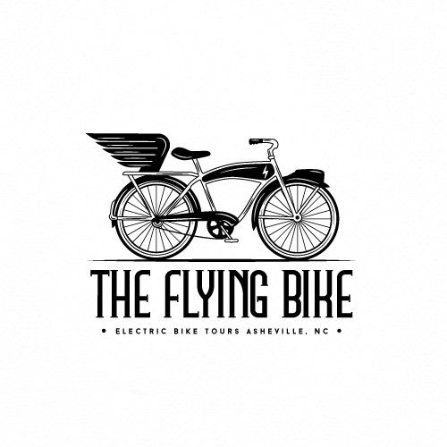 The Flying Bike Logo Design